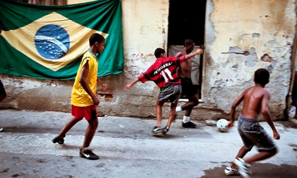 You'll find the real Brazilian football, here with it's kids, on it's streets, where it grew from